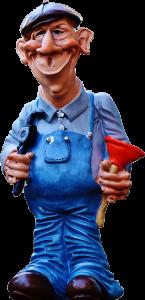 Maskottchen Abwassertechniker, Rohr- und Kanalreiniger